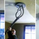 Remove Ugly Popcorn Ceiling In Just Seconds